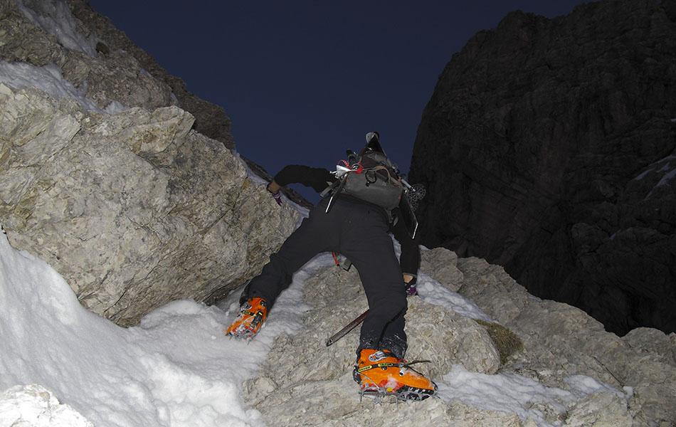 3. Superamento di un tratto roccioso (© Loris De Barba)