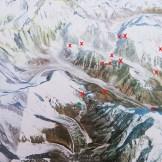 29. La mappa finale della esplorazione con i luoghi raggiunti