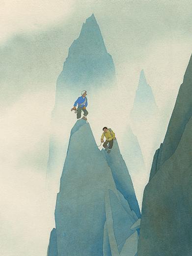 Brouillard, publié dans Samivel en montagne, les visions d'un amateur d'Abîmes, 1950