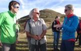 Hervé Barmasse , Mark Inglis e Peter Habeler. IMS Walk Day 2014 alla Plose (©ph. Teddy Soppelsa)