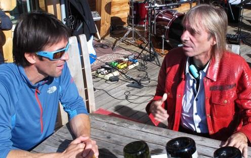Hervé Barmasse e Alain Robert. IMS Walk Day 2014 alla Plose (©ph. Teddy Soppelsa)