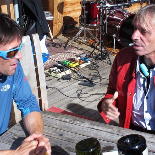 Hervé Barmasse e Alain Robert. IMS Walk Day 2014 alla Plose (©ph. Teddy Soppelsa)