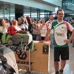 In attesa all'aeroporto, sabato 19 luglio