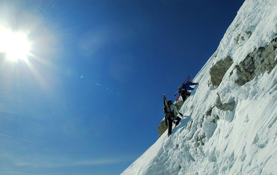 8. Tratto ripido a pochi passi dalla cima della Piccola Civetta (ph. Loris De Barba)