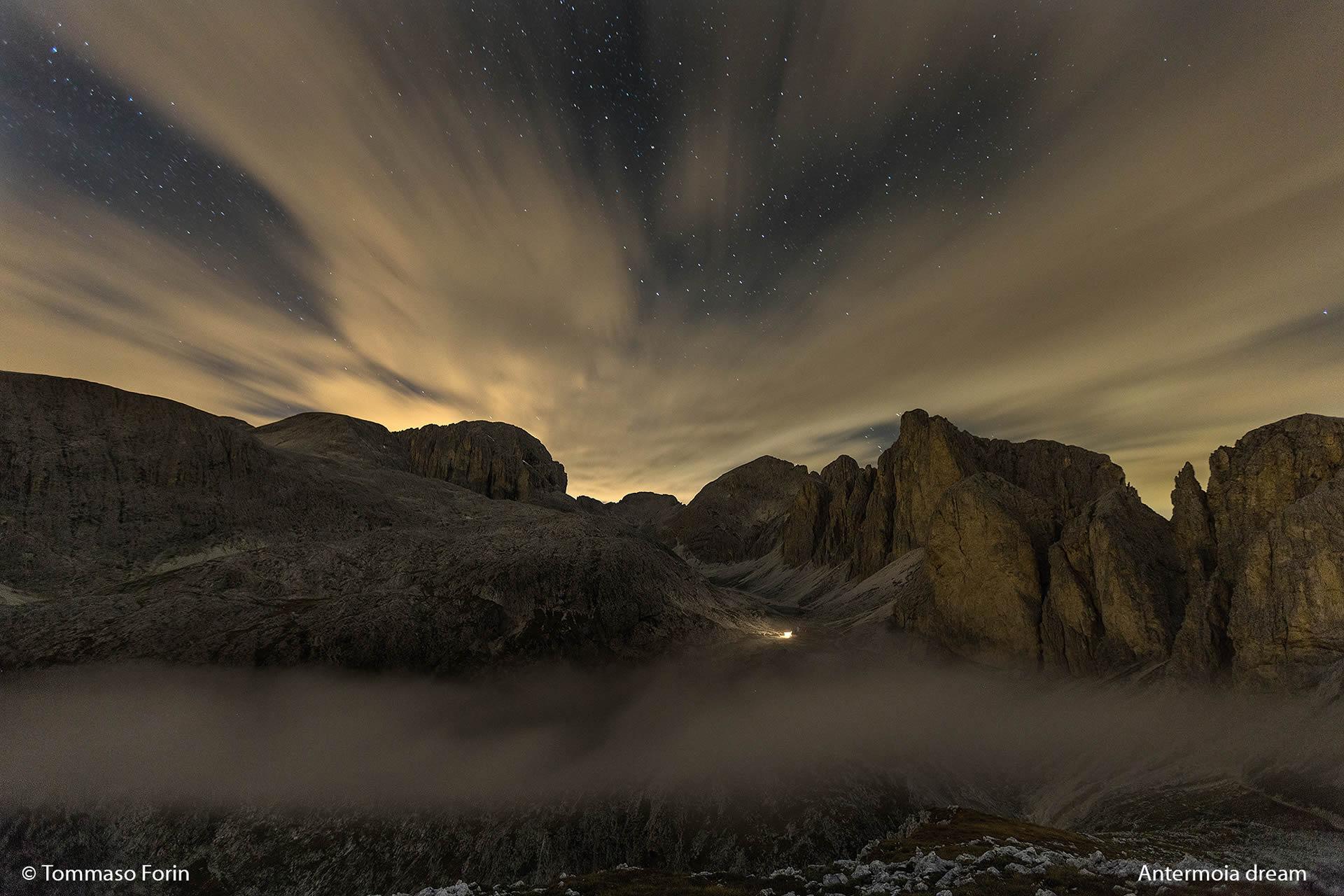 Antermoia dream - Ripresa notturna sulla Val d'Antermoia dal Mantello
