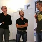 """Emilio Previtali (2° classificato) a dx e al centro """"il GiGi"""" il protagonista della storia di Previtali"""