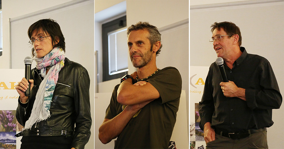 I vincitori del Blogger Contest.2015, (da sx a dx): Simonetta Radice, Emilio Previtali e Giorgio Madinelli durante la premiazione di sabato 10 ottobre a Belluno