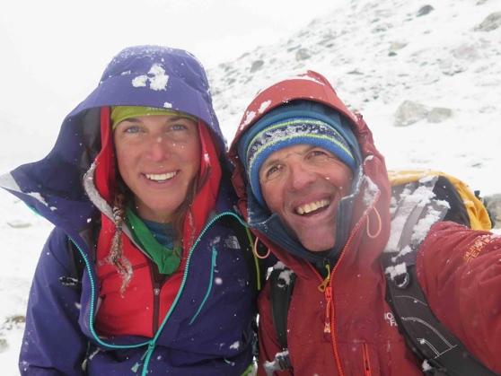 Tamara Lunger e Simone Moro ai piedi del Manaslu