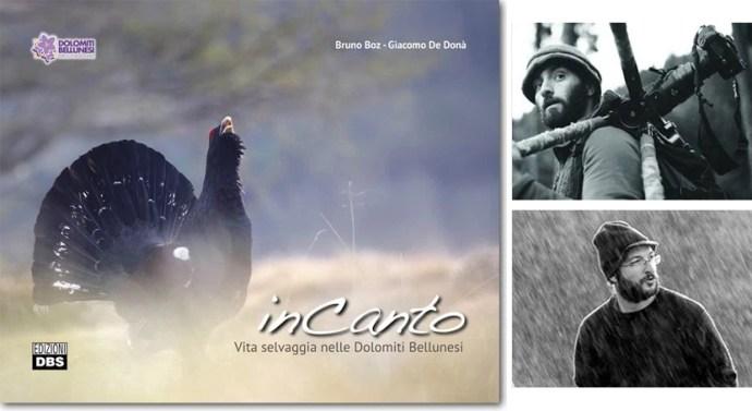 Copertina del volume InCanto (192 pagine a colori, copertina cartonata, 23,5×30, edizioni DBS, 2015), con gli autori: Giacomo De Donà (in alto) e Bruno Boz.