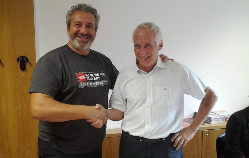 a sx, il presidente del Collegio Nazionale Guide Alpine Italiane (Conagai) Cesare Cesa Bianchi, e il presidente dell'Associazione Italiana Guide Ambientali Escursionistiche (Aigae) Stefano Spinetti