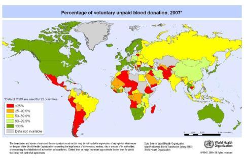 Donaciones sanguíneas remuneradas (Año 2007)