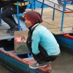Malý lodník, prievozník v Pokhare.