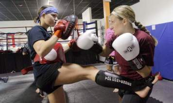 sparring a girl