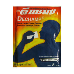 dechamp electrolyte powder thailand muay thai supplement