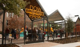 Dow Elementary Park Ribbon Cutting January 11, 2020 Photo Courtesy of City of Houston Parks and Recreation Department