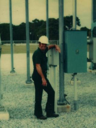 My dad at work in middle age.