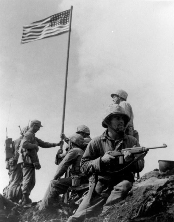 first flag raising on Iwo Jima