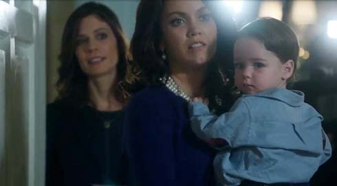 Mellie realizes Fitz isn't there for the reporter