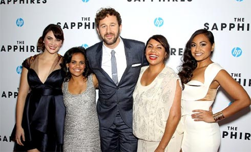 Deborah Mailman, Chris O'Dowd, Jessica Mauboy, Miranda Tapsell and Shari Sebbens at event of The Sapphires