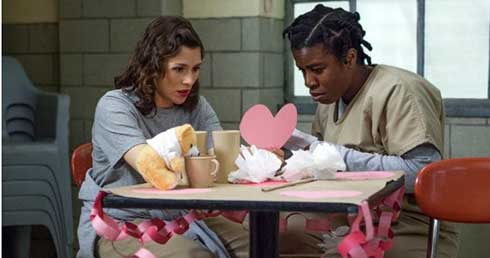 Yael Stone and Uzo Aduba