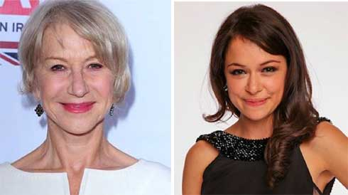 Helen Mirren and Tatiana Maslany