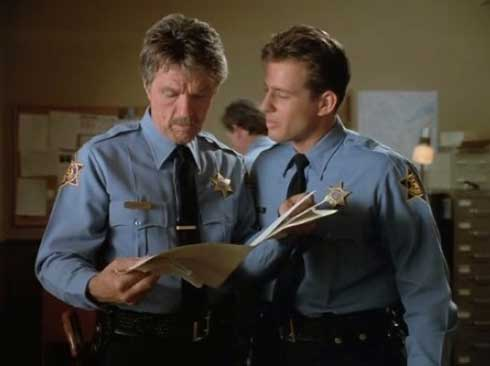 Tom Skerritt and Costas Mandylor in Picket Fences