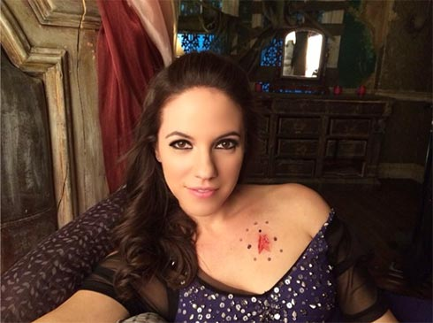Anna Silk behind the scenes photo by Rachel Skarsten.