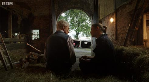 Alan and Gillian in the barn