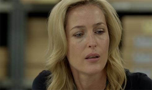 Gillian Anderson giving orders