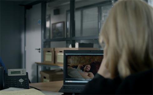 Stella watches Katie's video