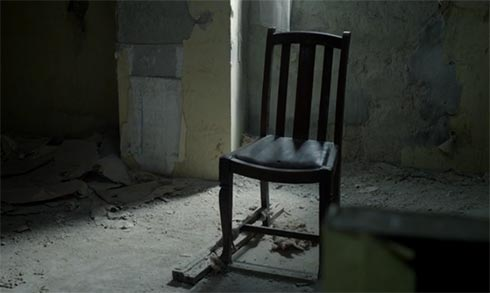 A chair in the empty house