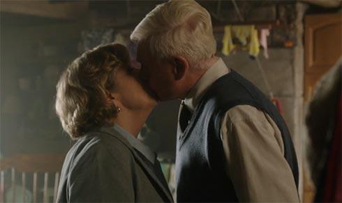 Celia and Alan kiss