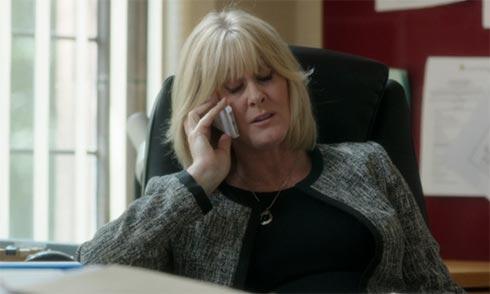 Caroline on the phone