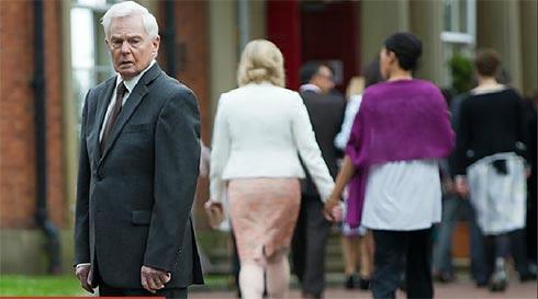 Caroline and Kate walk away from Alan