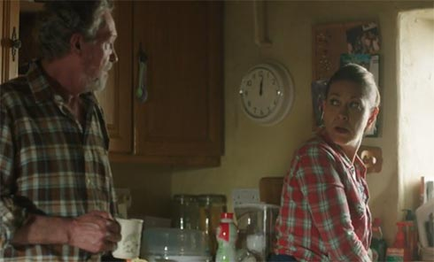 Harry and Gillian in the kitchen in Halfax.