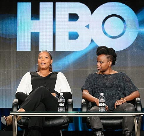 Queen Latifah and Dee Rees at Television Critics Association winter press tour.