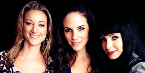 Zoie Palmer, Anna Silk and Ksenia Solo from Lost Girl