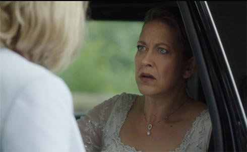Gillian looks at Caroline