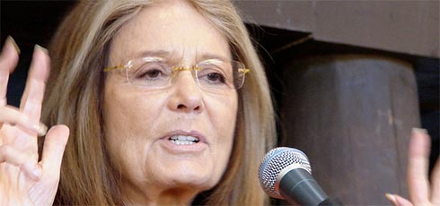 Gloria Steinem photo by Virginia DeBolt. All rights reserved