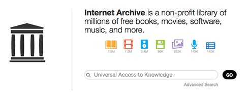 Internet Archive home page