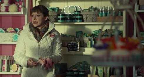 Alison in her mother's store