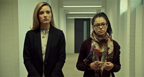 Delphine and Cosima await Gracie's arrival