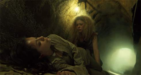 Helena finds Sarah in the tunnel