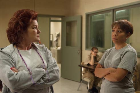 Kate Mulgrew and Selenis Leyva  face off
