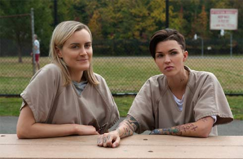 Taylor Schilling and Ruby Rose looking very friendly