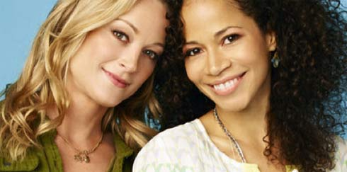 Teri Polo and Sherri Saum in The Fosters
