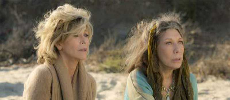 Jane Fonda and Lily Tomlin in Grace and Frankie