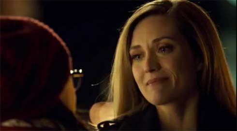 Delphine with tears in her eyes