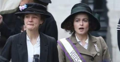 Carey Mulligan and Helena Bonham Carter in Suffragette