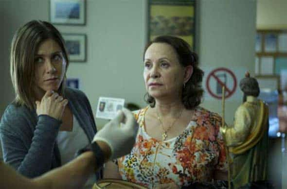 Jennifer Aniston and Adriana Barraza in a scene from Cake